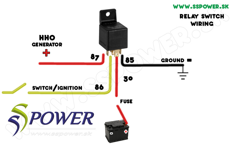 HHO wiring schceme - relay switch